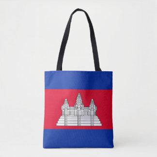 Cambodia Flag Tote Bag