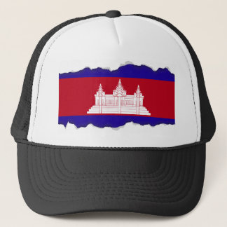 Cambodia Flag Trucker Hat