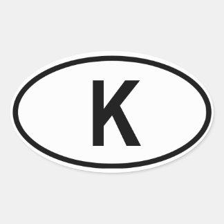 """Cambodia """"K"""" Oval Sticker"""