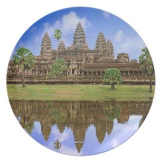 Cambodia, Kampuchea, Angkor Wat temple. Plate