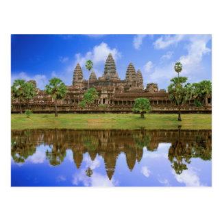 Cambodia, Kampuchea, Angkor Wat temple. Postcard