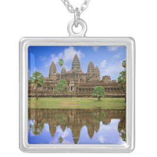 Cambodia, Kampuchea, Angkor Wat temple. Silver Plated Necklace