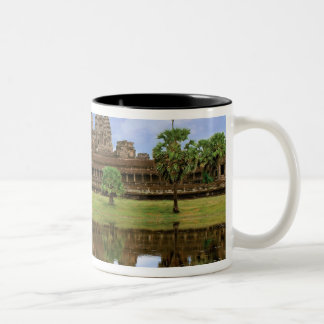 Cambodia, Kampuchea, Angkor Wat temple. Two-Tone Coffee Mug
