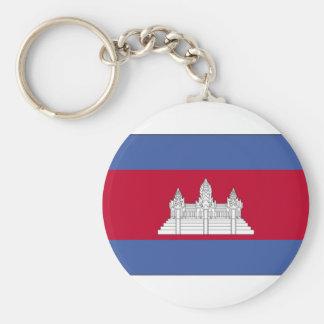 cambodia-large-flag basic round button keychain