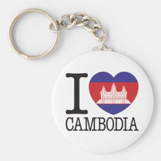 Cambodia Love v2 Basic Round Button Keychain