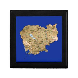 Cambodia Map Gift Box