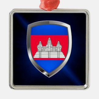 Cambodia Metallic Emblem Metal Ornament