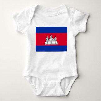Cambodia National World Flag Baby Bodysuit