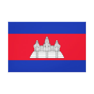 Cambodia National World Flag Canvas Print
