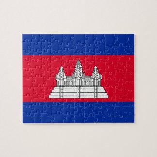 Cambodia National World Flag Jigsaw Puzzle