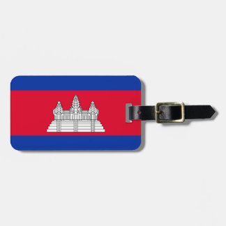Cambodia National World Flag Luggage Tag