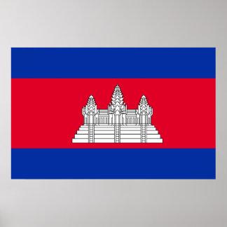 Cambodia National World Flag Poster