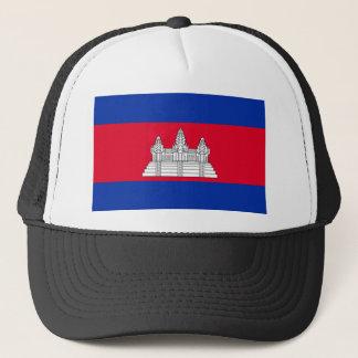 Cambodia National World Flag Trucker Hat