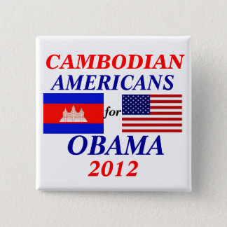 Cambodian americans for Obama 2 Inch Square Button