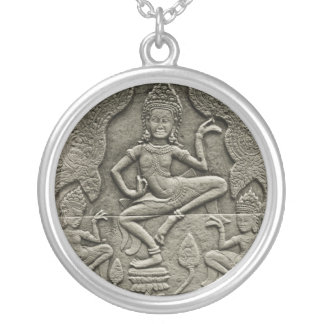 Cambodian Art Silver Plated Necklace