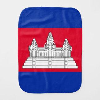 Cambodian flag burp cloth
