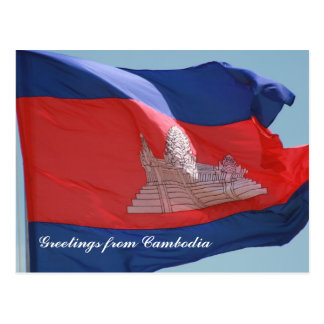 cambodian flag postcard