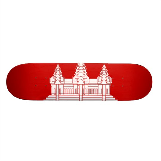 Cambodian Flag Skateboard Deck