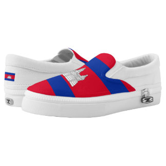 Cambodian flag Slip-On sneakers