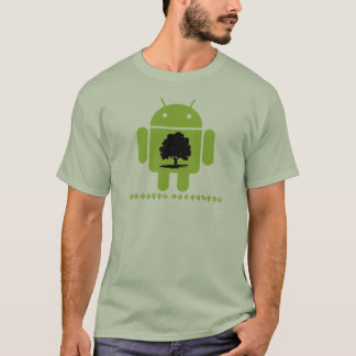Cambrian Explosion (Bug Droid Oak Tree Silhouette) T-Shirt