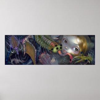 Cambrian Mermaid ART PRINT pop surrealism fantasy