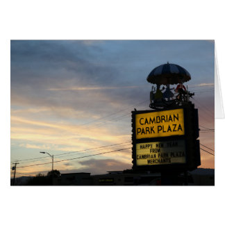 Cambrian Park Plaza Carousel Landmark, San Jose CA Card