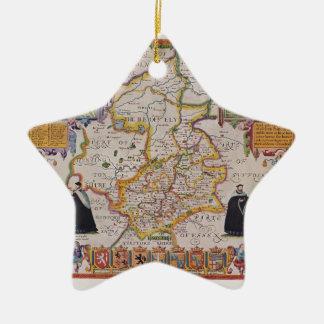 Cambridge Antique Map Ceramic Ornament