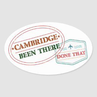 Cambridge Been there done that Oval Sticker