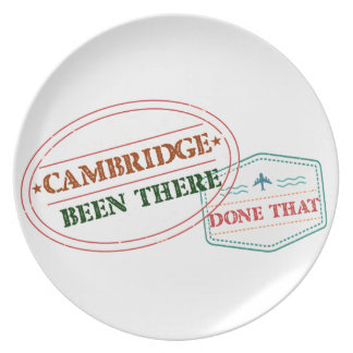 Cambridge Been there done that Plate