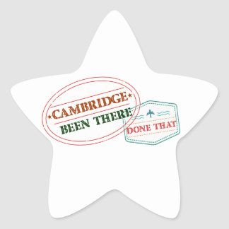 Cambridge Been there done that Star Sticker