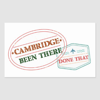 Cambridge Been there done that Sticker