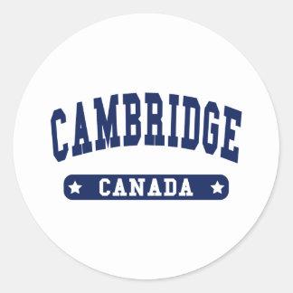 Cambridge Classic Round Sticker