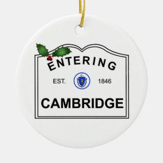 Cambridge MA Ceramic Ornament