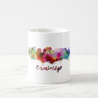 Cambridge MA skyline in watercolor Coffee Mug