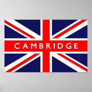 Cambridge UK Flag Poster