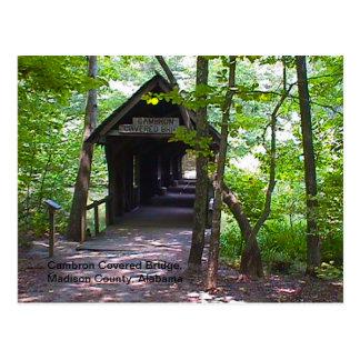 Cambron Covered Bridge, Madison County, Alabama Postcard