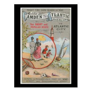 Camden and Atlantic Railroad Postcard