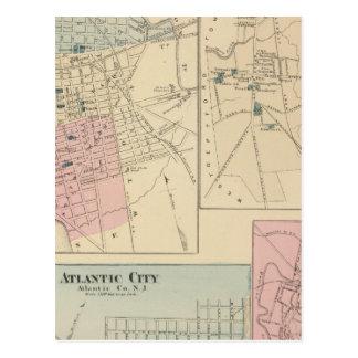 Camden, Atlantic City, Woodbury, Mt Holly Postcard