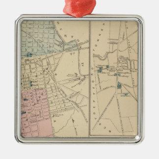 Camden, Atlantic City, Woodbury, Mt Holly Silver-Colored Square Ornament