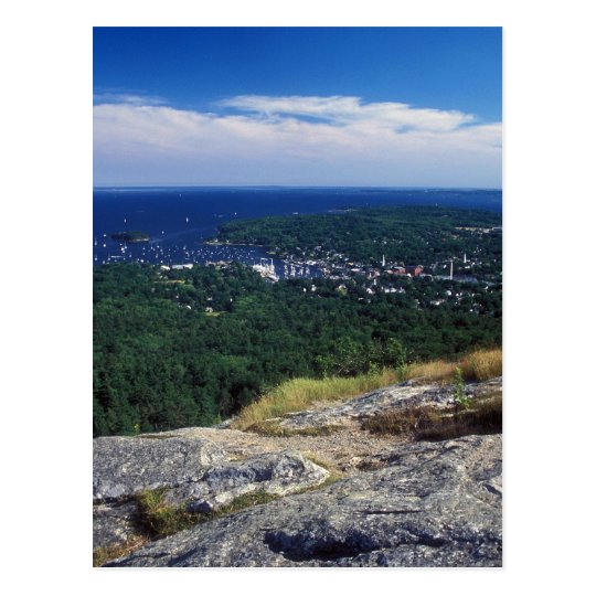 Camden Hills State Park Mount Battie View Postcard