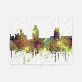 Camden New Jersey Skyline SG Safari Buff Fleece Blanket