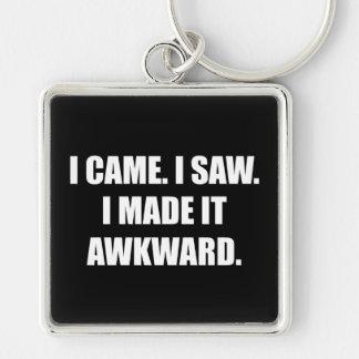 Came Saw Made Awkward Keychain