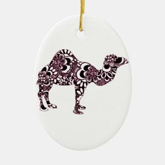 Camel 2 ceramic ornament