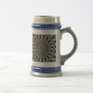 Camel and Teal Kaleidoscope Beer Stein