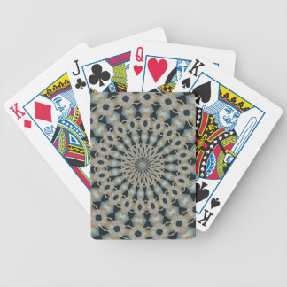 Camel and Teal Kaleidoscope Bicycle Playing Cards