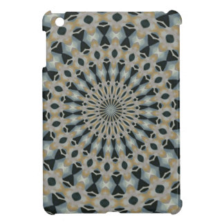 Camel and Teal Kaleidoscope Case For The iPad Mini