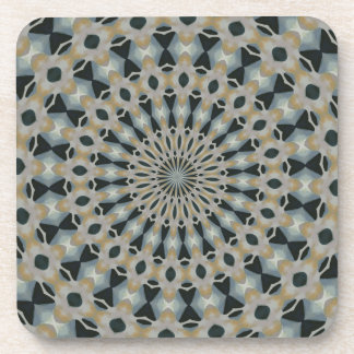 Camel and Teal Kaleidoscope Coaster