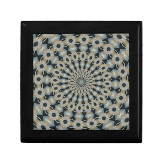 Camel and Teal Kaleidoscope Gift Box
