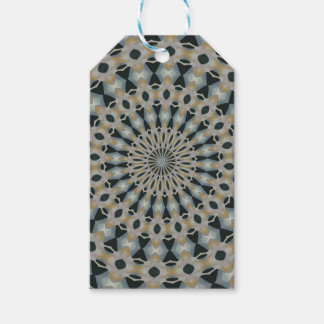 Camel and Teal Kaleidoscope Gift Tags