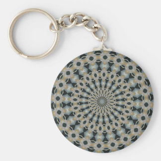 Camel and Teal Kaleidoscope Keychain